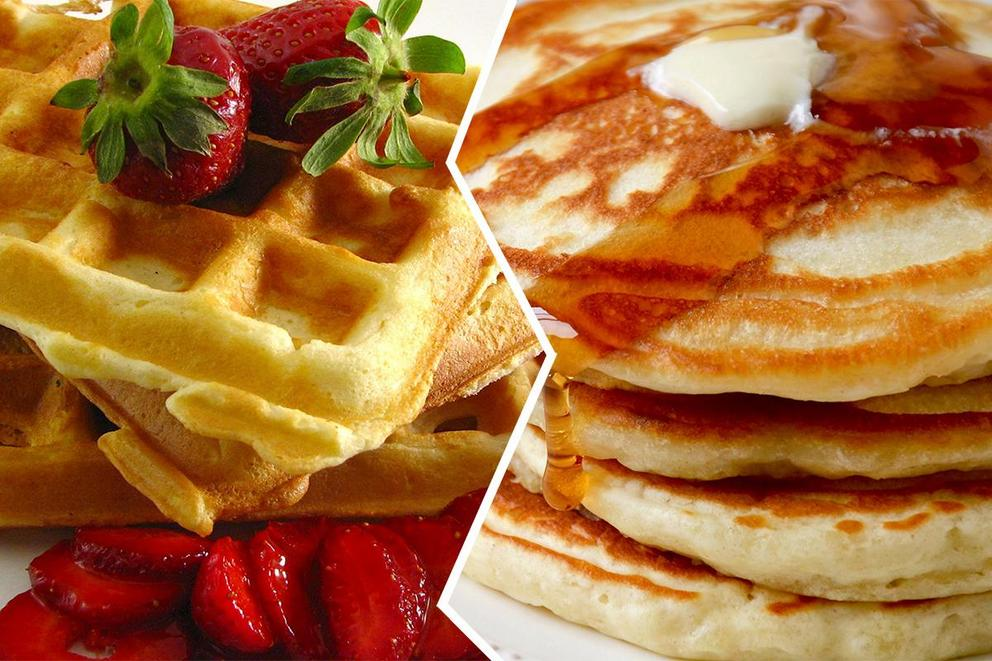It's National Waffle Day! Which is better: waffles or pancakes??