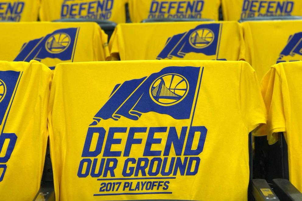 Did the Golden State Warriors steal the Cavaliers' playoff motto?