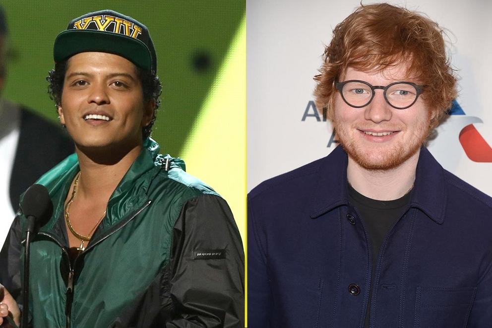 Male pop artist of the year: Bruno Mars or Ed Sheeran?