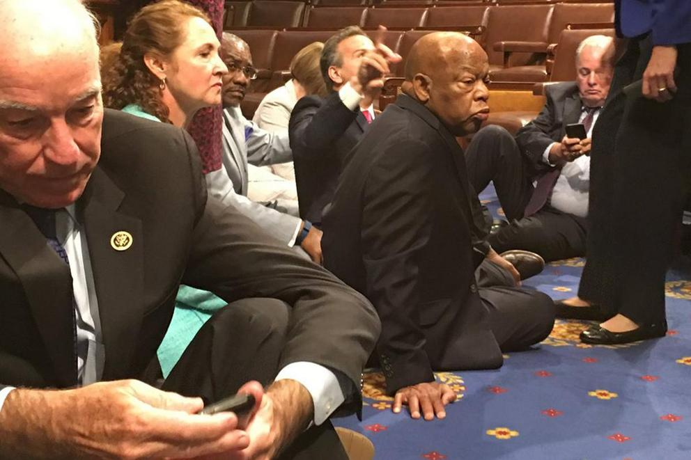 House Democrats stage sit-in for gun control votes. Will it work?