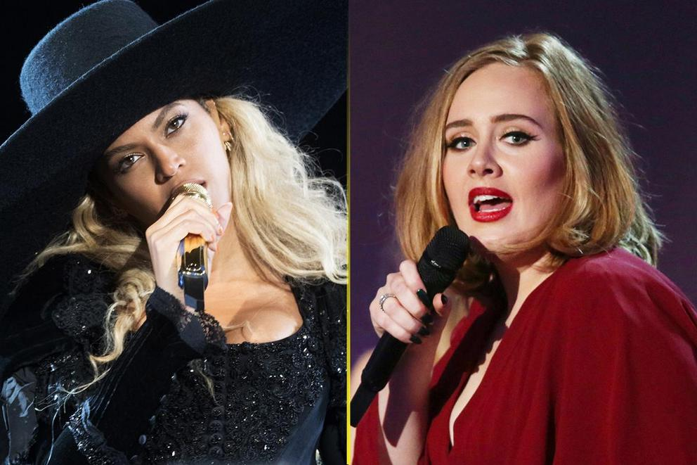Who will win big at the Grammys: Beyoncé or Adele?