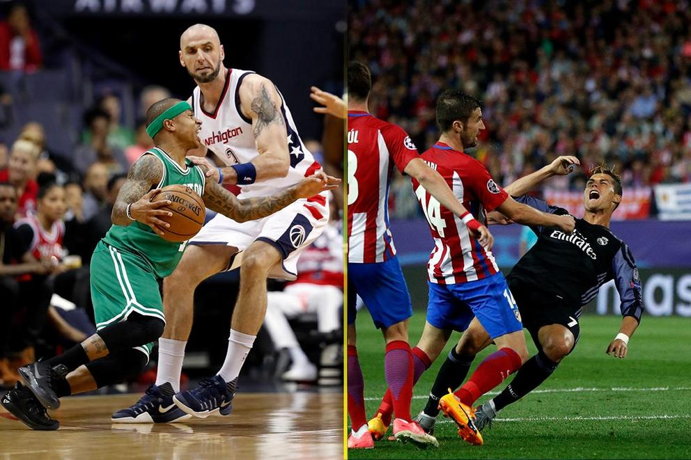 Who are the worst floppers: Basketball or soccer players?