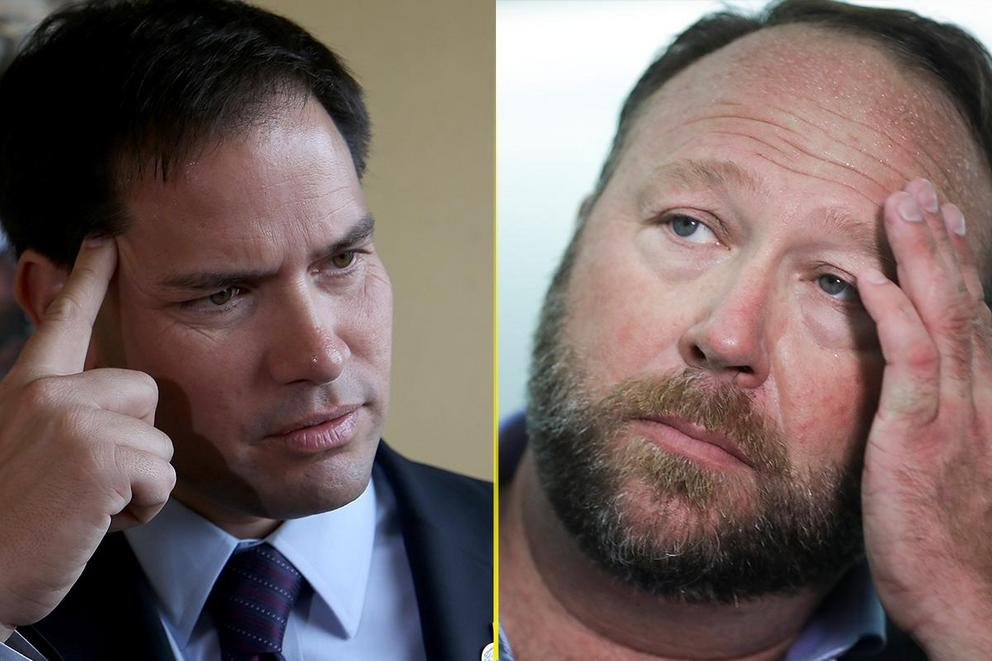 Marco Rubio vs. Alex Jones: Who are you rooting for?