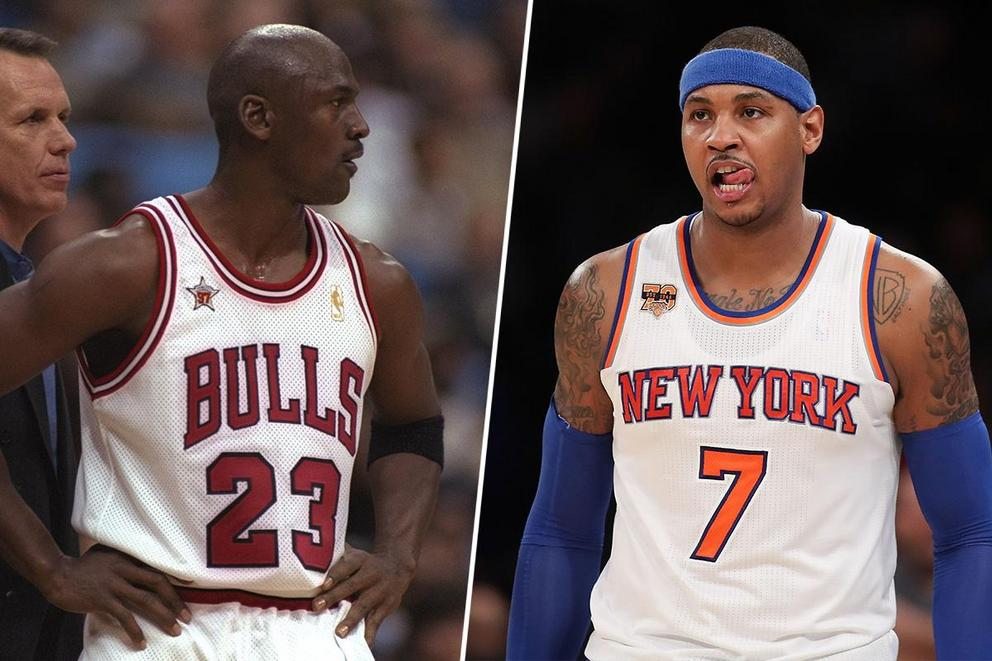 Best 1-on-1 NBA player ever: Michael Jordan or Carmelo Anthony?