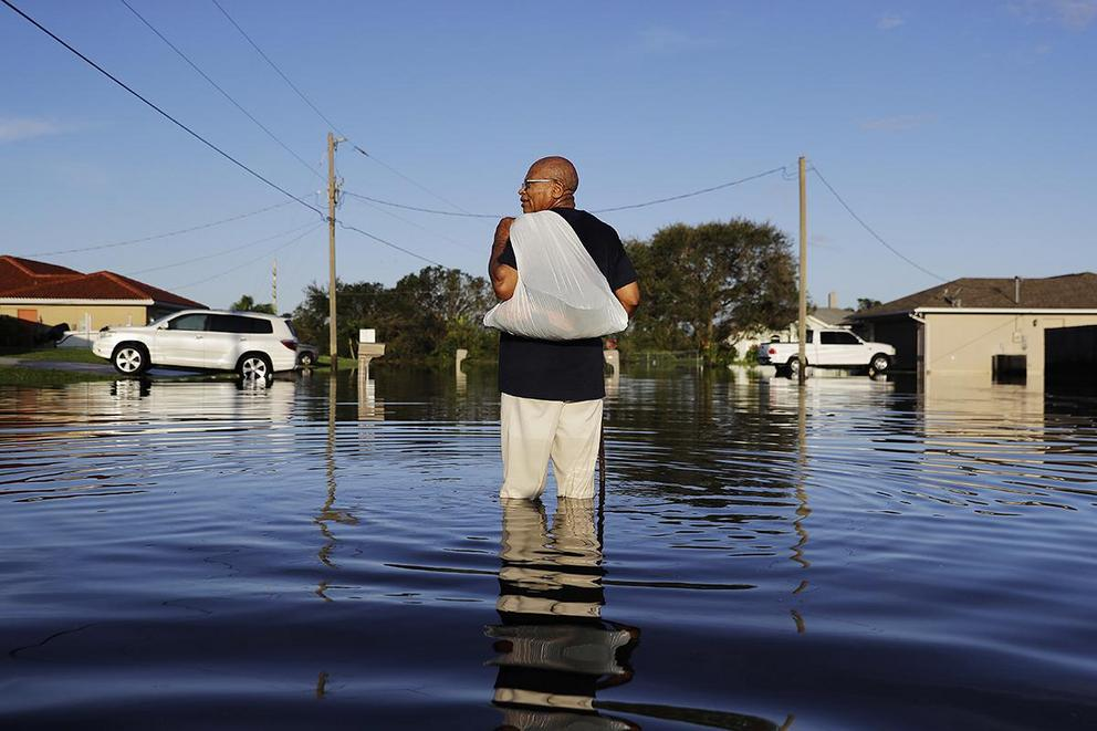 Is it insensitive to discuss climate change during a hurricane?