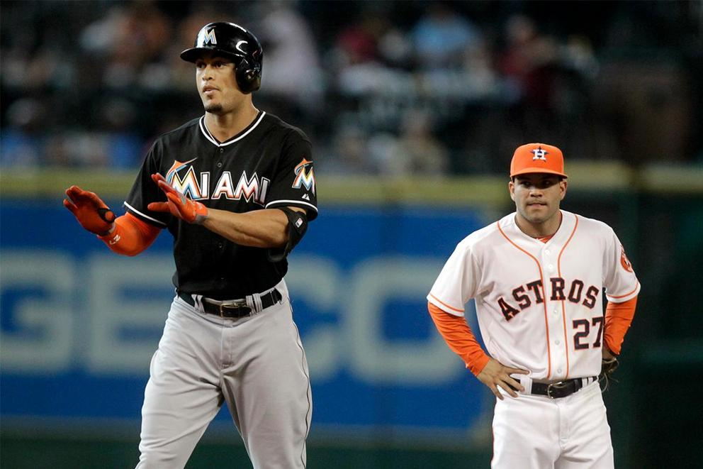 Who was baseball's most valuable player in 2017: Jose Altuve or Giancarlo Stanton?