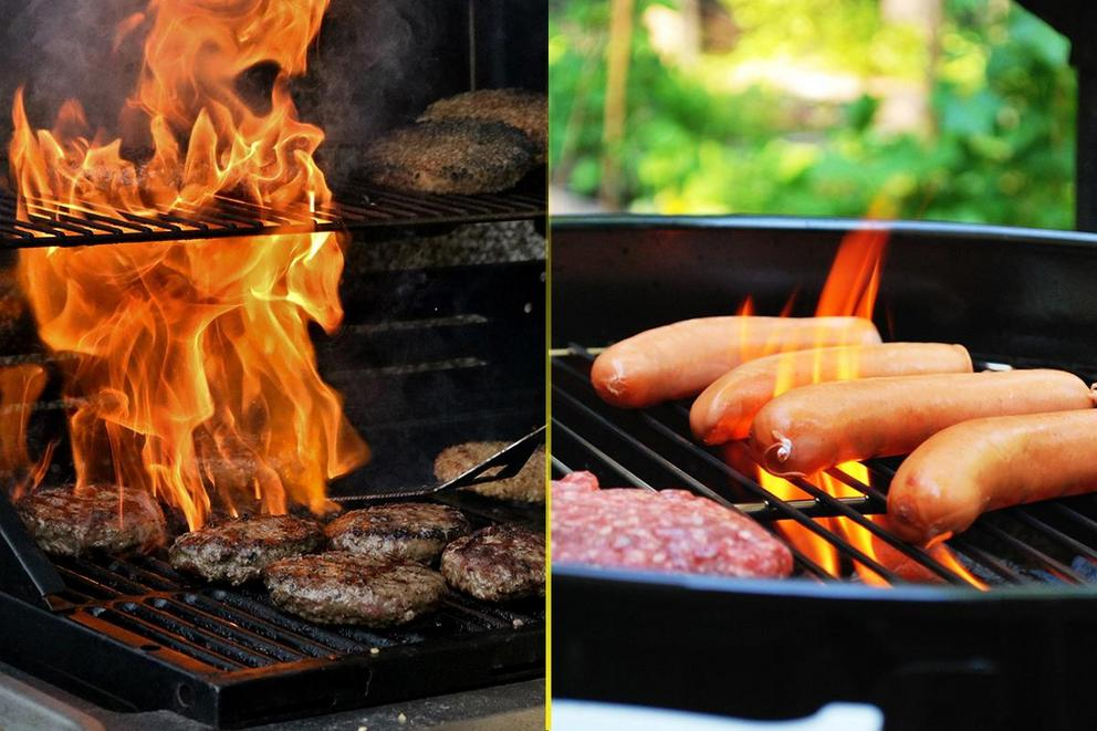 Best foodstuff for the grill: Burger or hot dog?