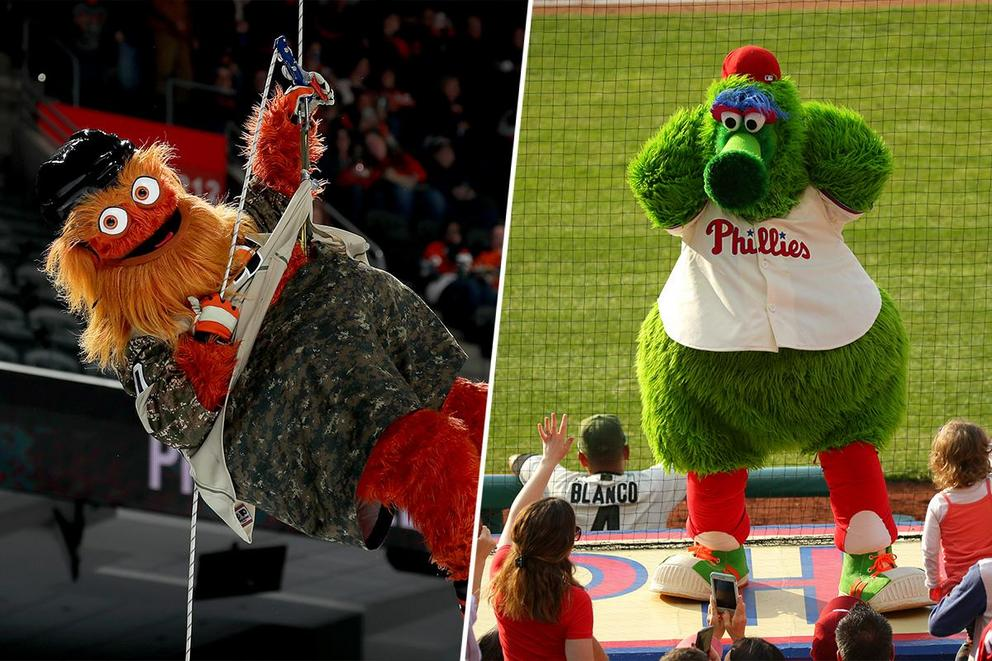 Who's the best Philadelphia mascot: Gritty or the Phillie Phanatic?
