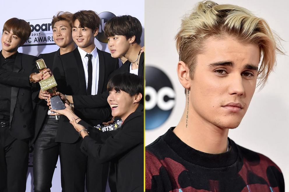 Billboard's Top Social Artist: BTS or Justin Bieber?