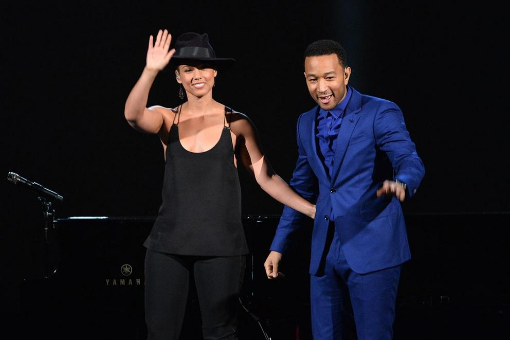 Favorite R&B piano-playing musician: Alicia Keys or John Legend?