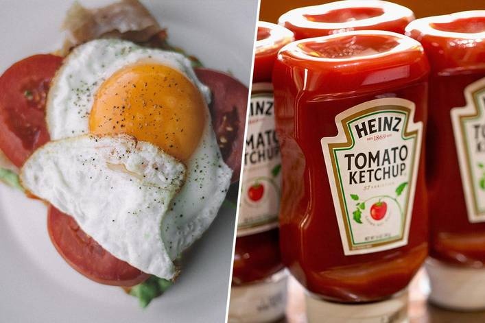 Do ketchup and eggs go together?