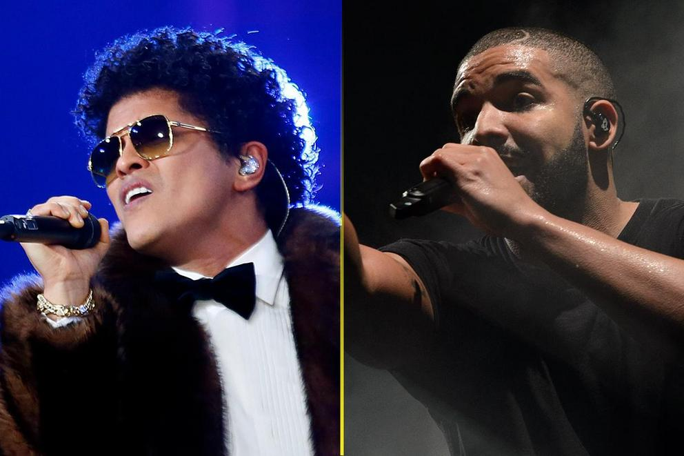 Billboard's Top Male Artist: Bruno Mars or Drake?