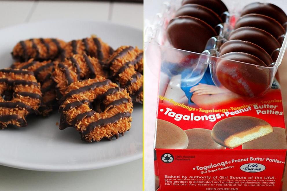 Which Girl Scout cookie is better: Caramel deLites or Tagalongs?
