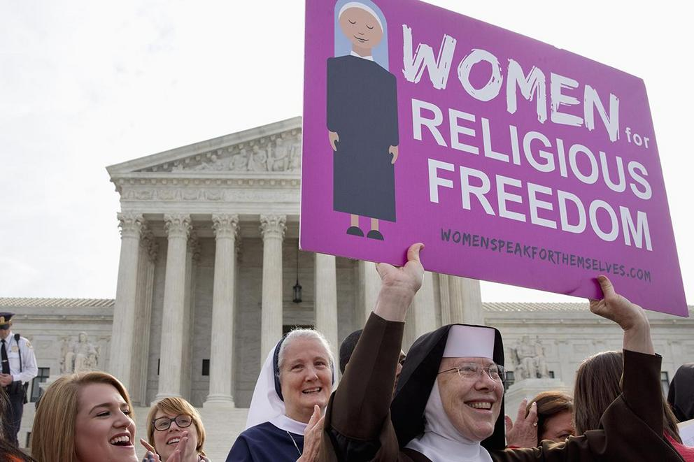 Should religious groups' health insurance plans cover contraception?