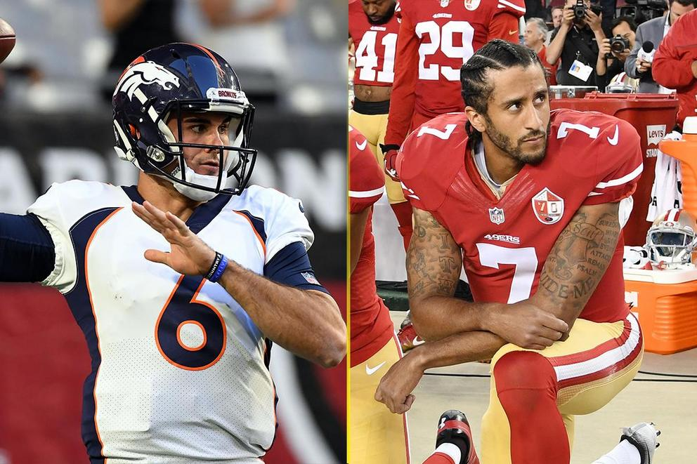 Who would you rather have a criminal as a backup quarterback or a protestor?