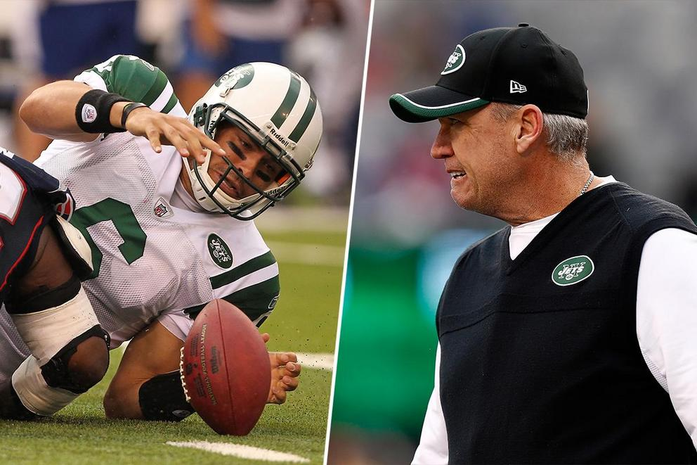 Strangest Mark Sanchez moment: the butt fumble or Rex Ryan's tattoo?