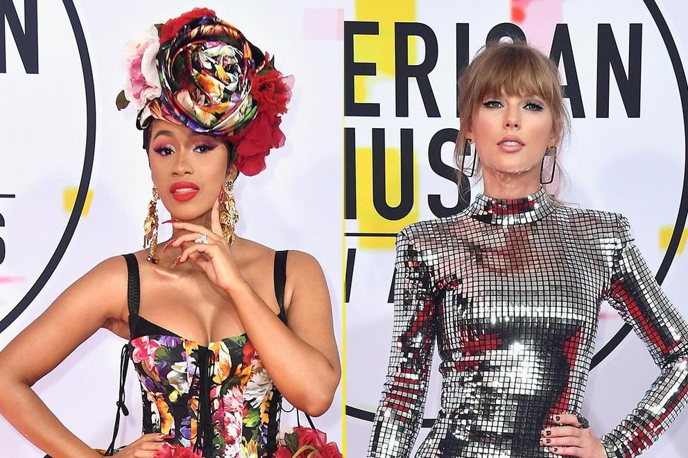 Best dressed at the 2018 AMAs: Cardi B or Taylor Swift?
