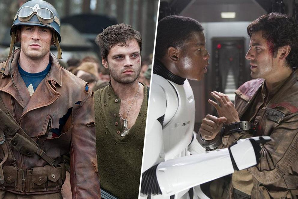 Favorite ship: Cap and Bucky, or Finn and Poe?