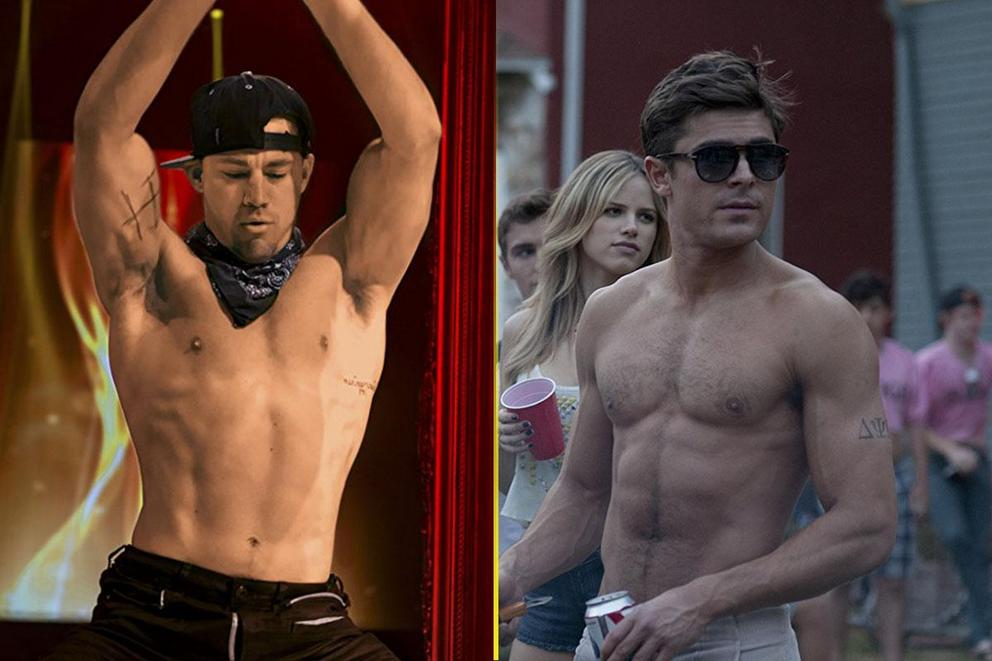 Favorite shirtless movie heartthrob: Channing Tatum or Zac Efron?