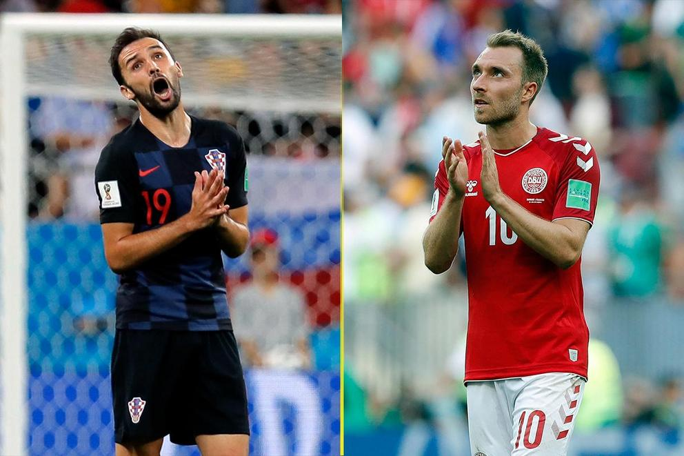 Who will advance to the World Cup quarterfinal: Croatia or Denmark?