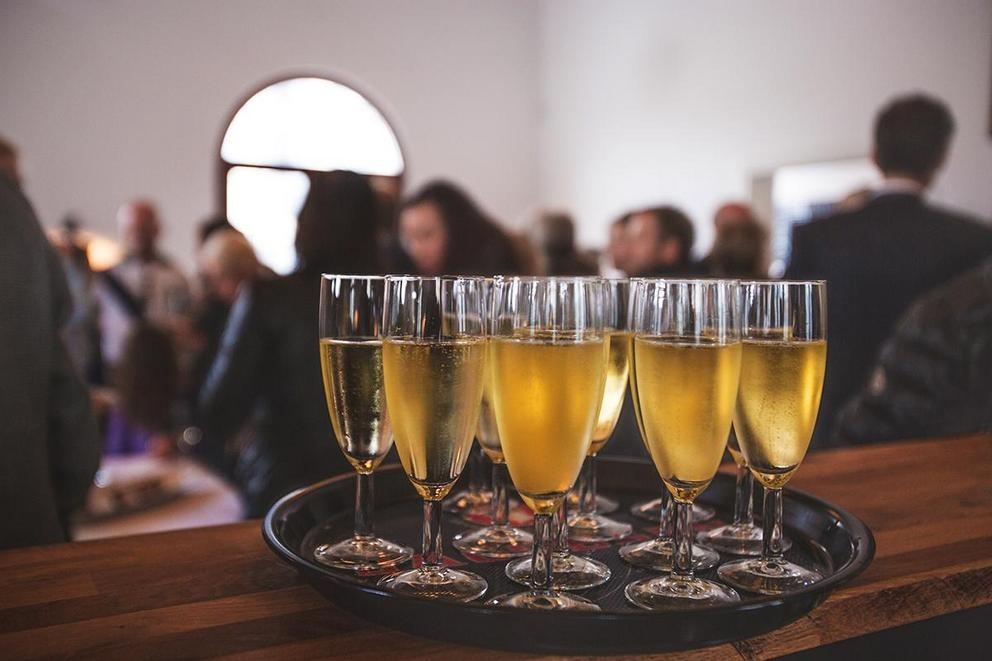 Should you drink booze at an office holiday party?