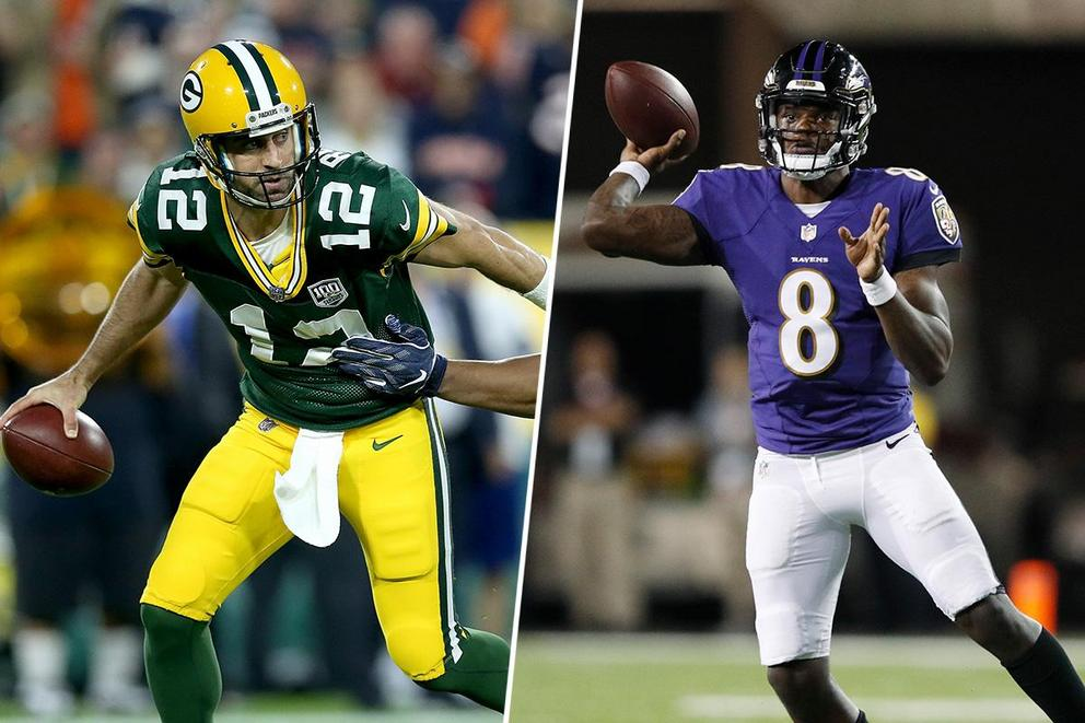 Who is the midseason NFL MVP: Aaron Rodgers or Lamar Jackson?