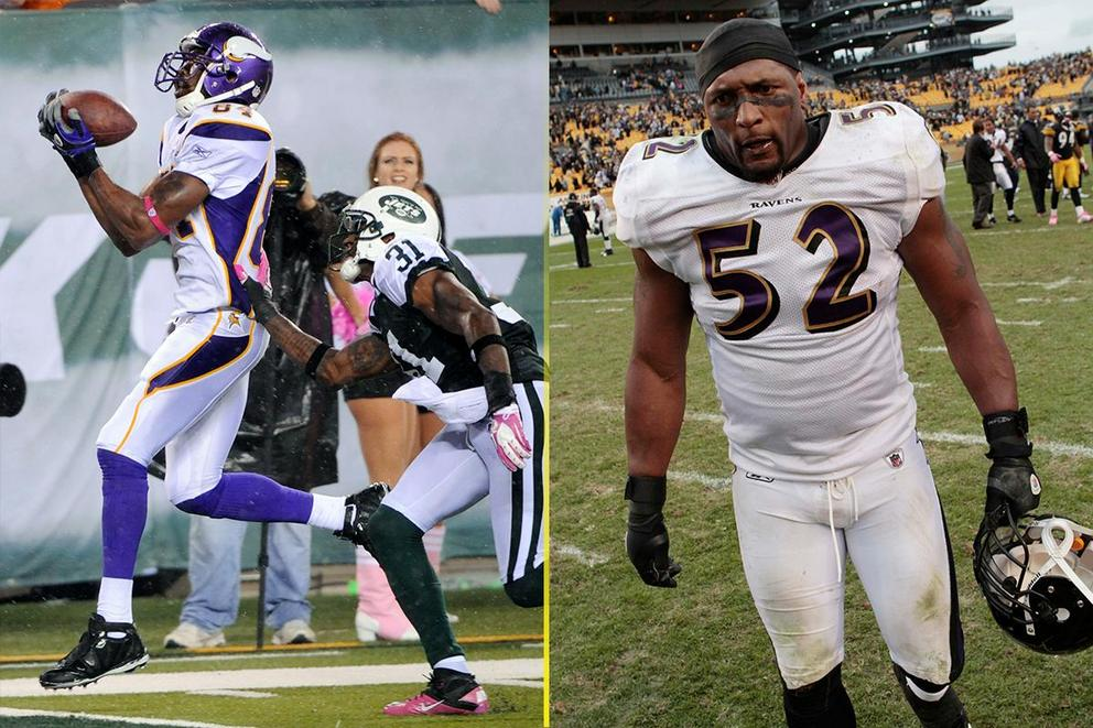 Which Hall of Fame nominee would you want on your team: Randy Moss or Ray Lewis?