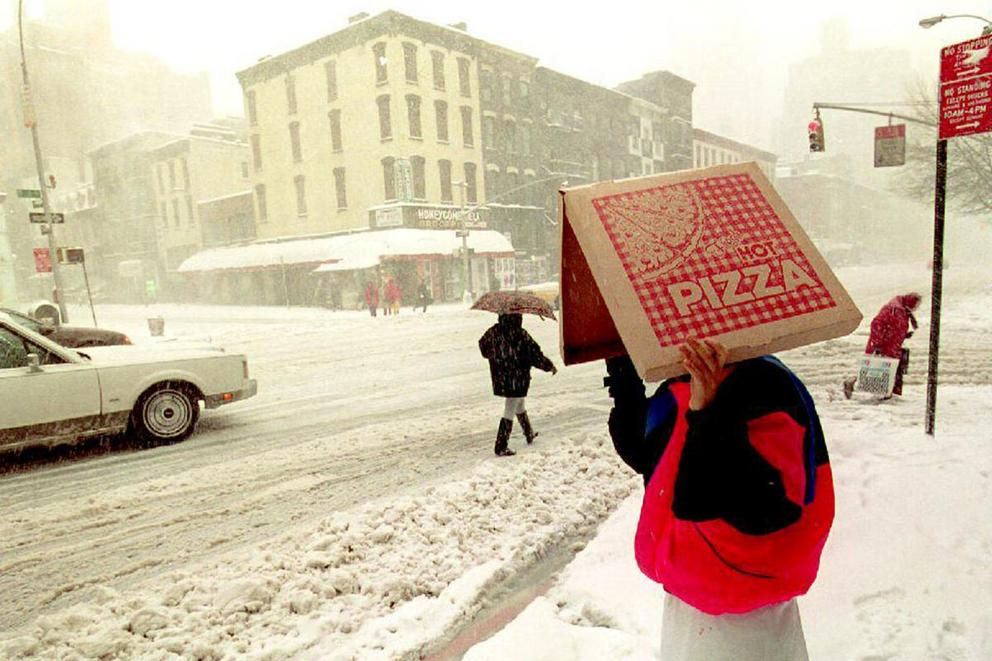 Is it wrong to order food delivery in a snowstorm?