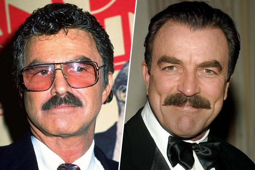 Favorite mustache-wielding heartthrob of all time: Burt Reynolds or Tom Selleck?