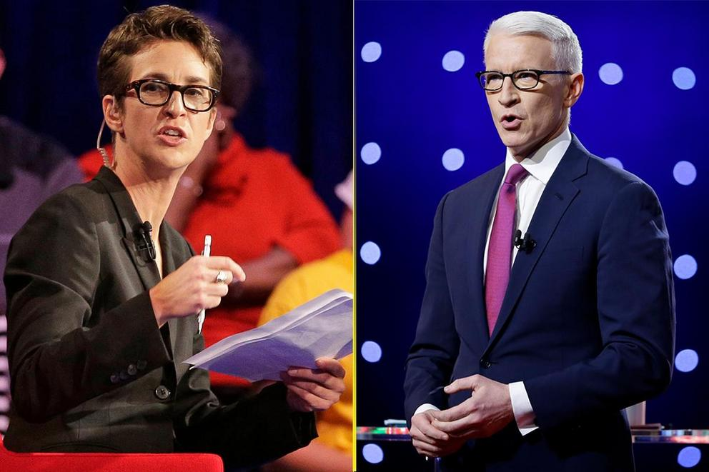 Who gave the best political rant of 2017: Rachel Maddow or Anderson Cooper?