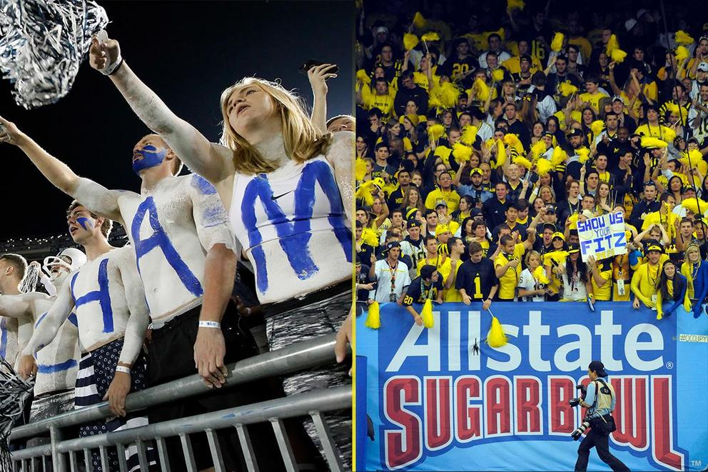 NCAA's Best College Fan Base: Penn State or Michigan?