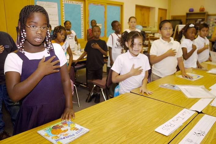 Should American kids be required to say the Pledge of Allegiance?