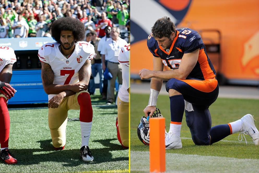 Whose kneeling was more acceptable: Colin Kaepernick or Tim Tebow?