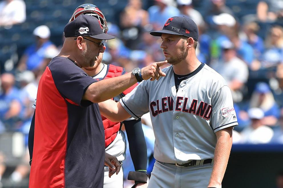Was Trevor Bauer's out-of-field throw childish or passionate?