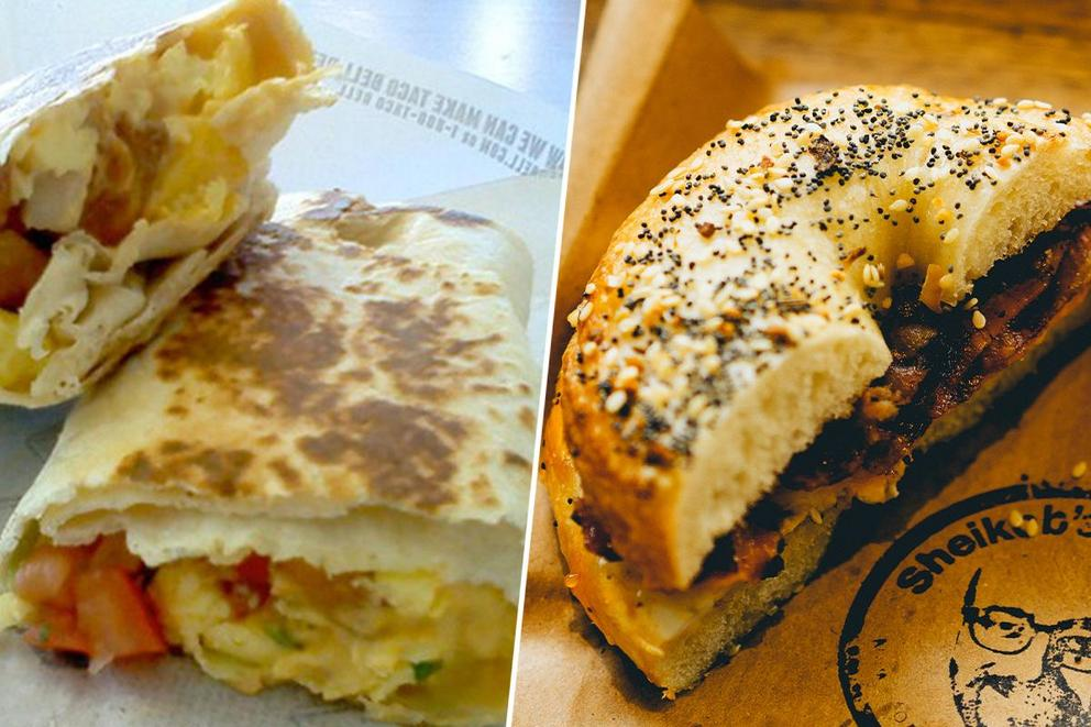 Best a.m. carb: the breakfast burrito or sandwich?