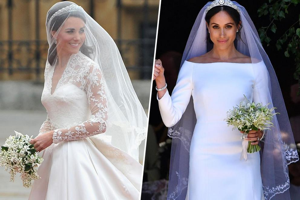 who wore the best wedding dress kate middleton or meghan markle the tylt who wore the best wedding dress kate