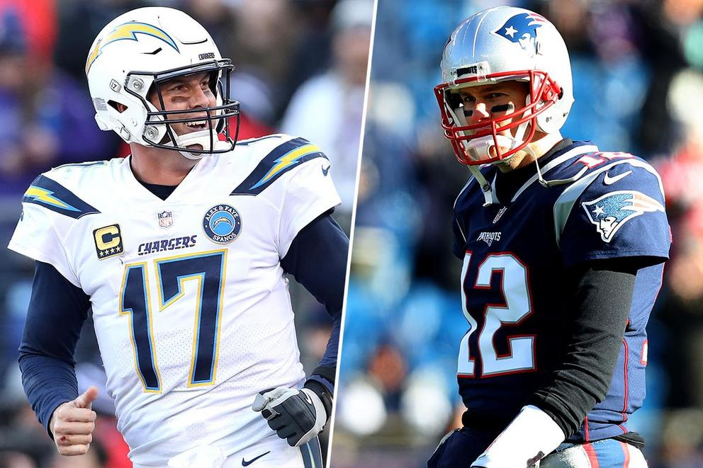 Which team will win the AFC Divisional Round: Chargers or Patriots?