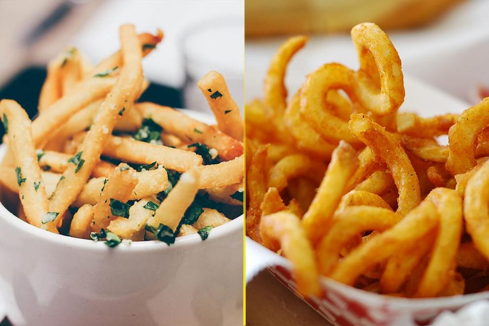 Which fries are the best: Garlic fries or curly fries?
