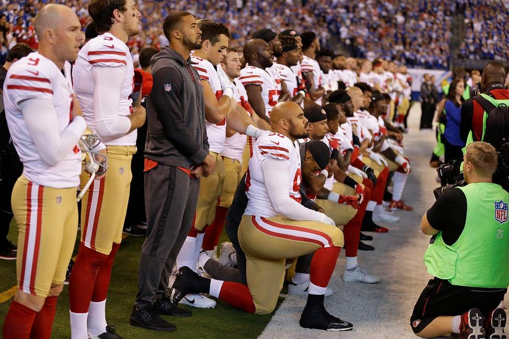 Should the NFL force players to stand for the national anthem?