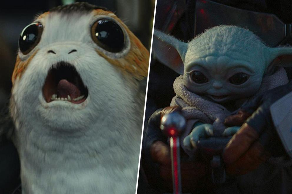 Which 'Star Wars' creature is the cutest: Porgs or Baby Yoda?