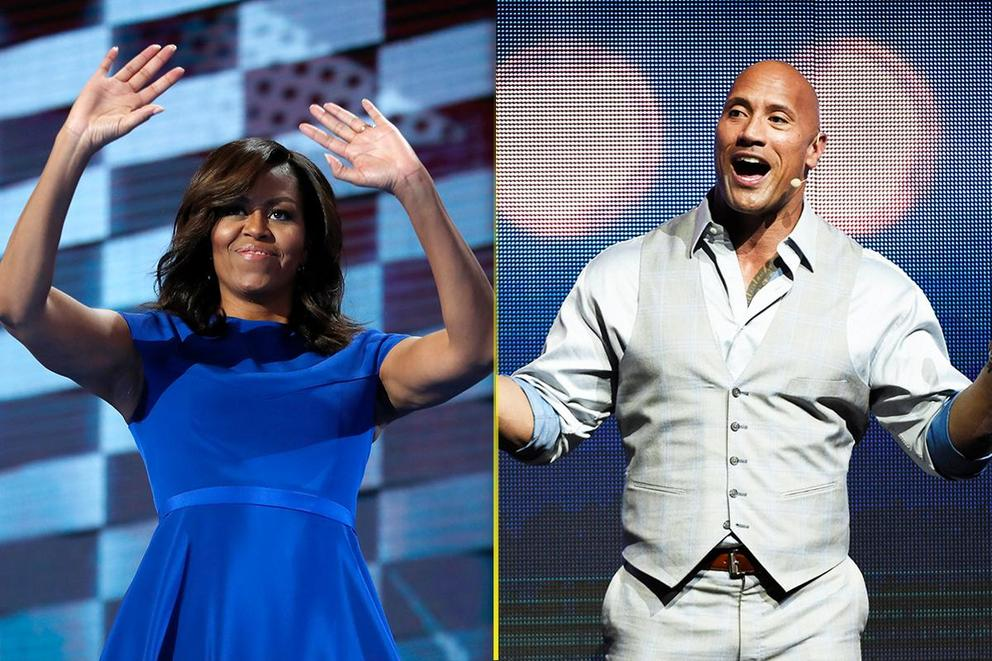 Who should be Oprah's running mate: Michelle Obama or The Rock?