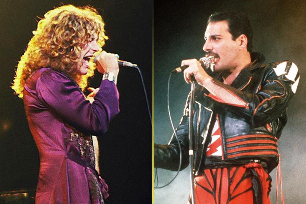 Greatest rock vocalist of all time: Robert Plant or Freddie Mercury?
