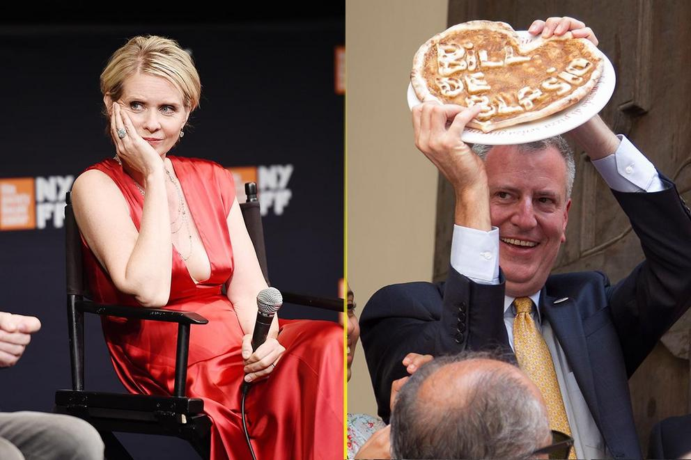 Worst Food Faux Pas: Cynthia Nixon's bagel order or Bill de Blasio's pizza?