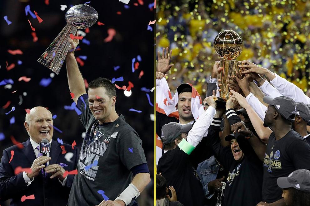 Champion of the year: New England Patriots or Golden State Warriors?