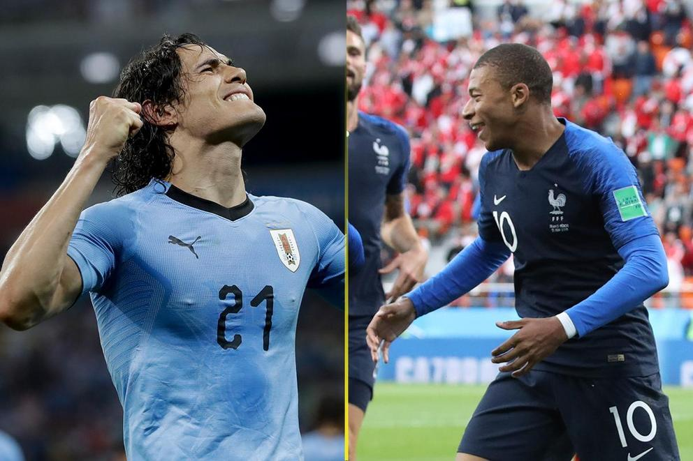 Who will advance to the World Cup semifinal: Uruguay or France?