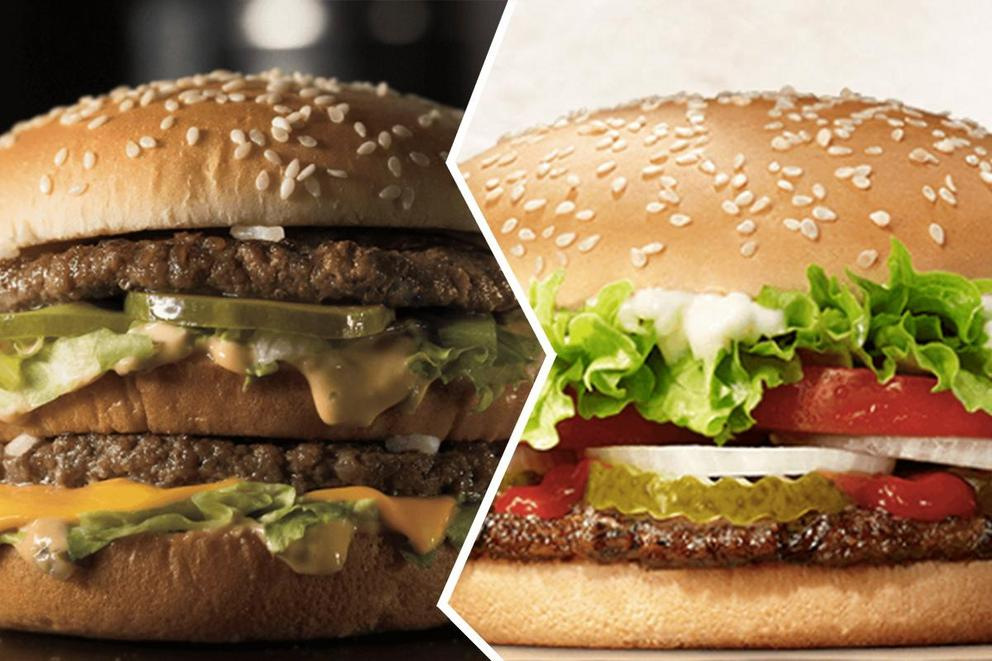 Big Mac or Whopper: Which burger is tastier?