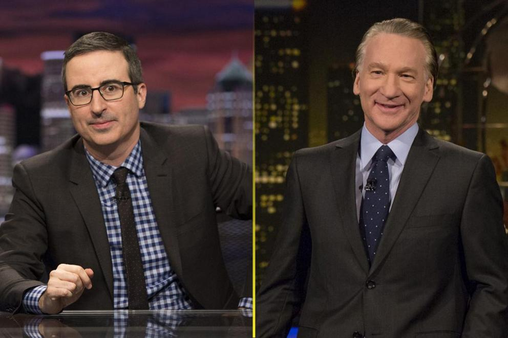 Who gave the best political rant of 2017: John Oliver or Bill Maher?