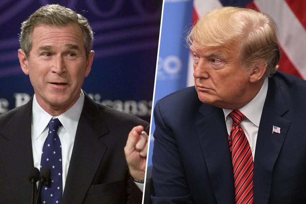 Was George W. Bush a better president than Donald Trump?