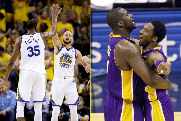 Would win a 7-game series: 2018 Golden State Warriors or 2001 Los Angeles Lakers?