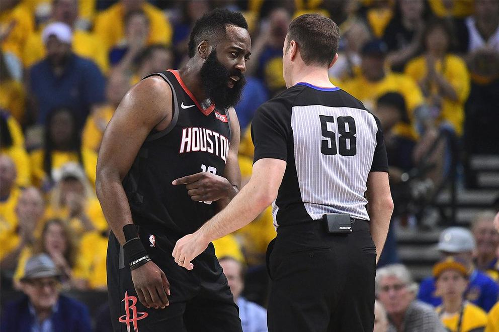 Did James Harden get fouled at the end of Game 1?